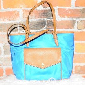 MICHAEL Michael KORS Blue Nylon Tote Bag!